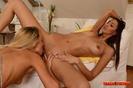 Victoria buries her fist way deep into Kitty's pink!